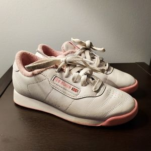 Reebok Princess sneakers white and pink size 13.5